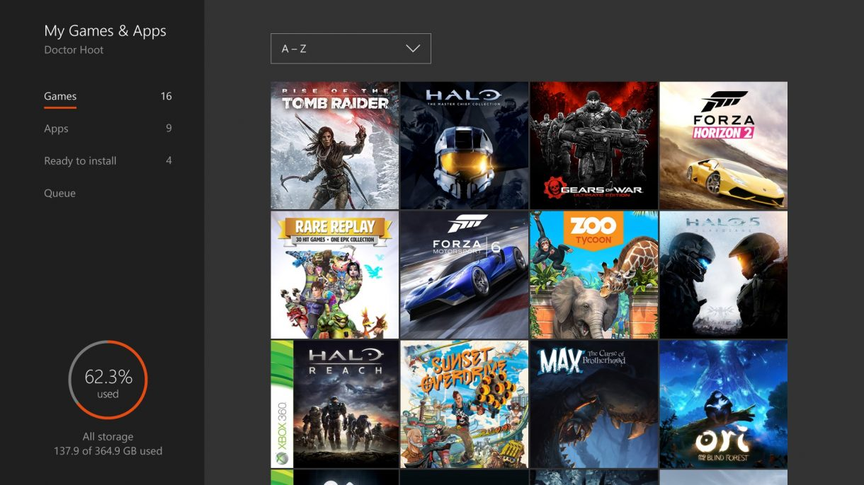 Xbox One Summer Update 2016 Game Collection