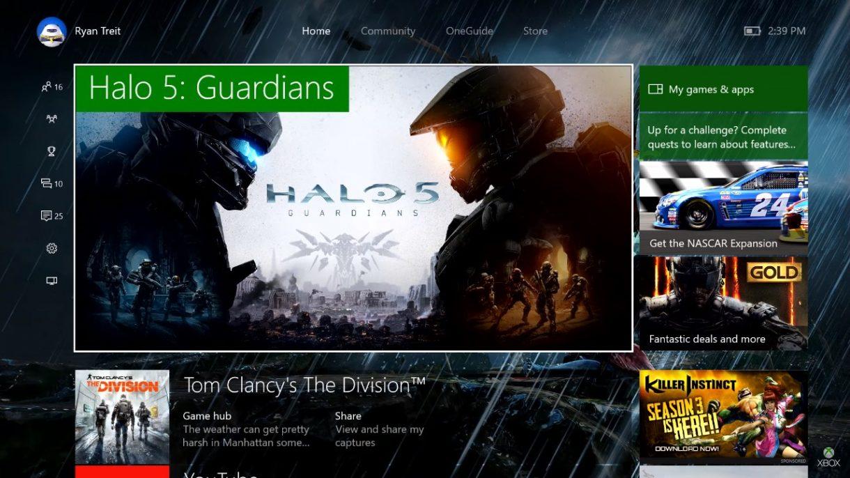 Xbox One Summer Update 2016 Startscreen