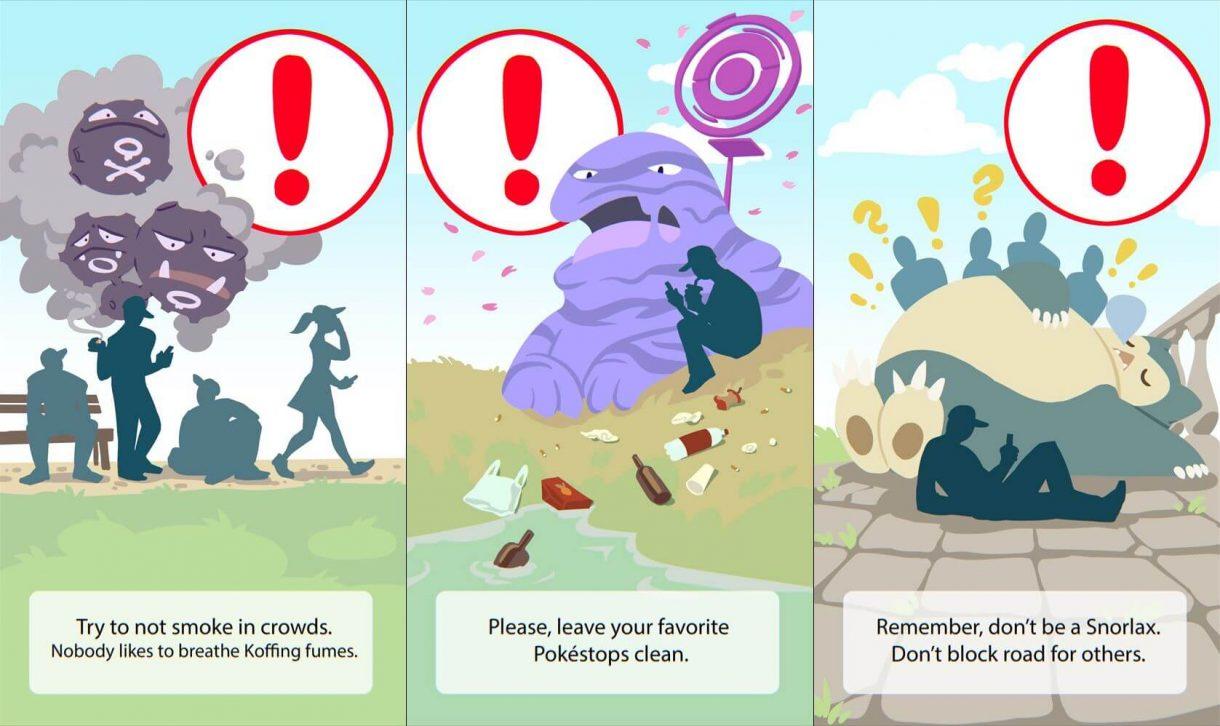 Ein paar Konzepte für weitere Meldungen beim Start von Pokémon GO von Magdalena Proszowska