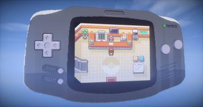 Pokémon auf einem Game Boy Advance in Minecraft nachgebaut