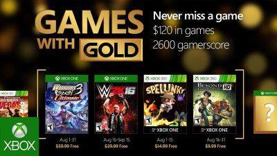 Games with Gold im August – Beyond Good & Evil, Spelunky und mehr