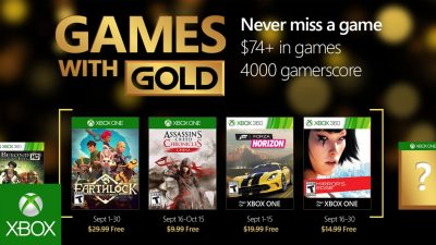 Games with Gold im September – Assassins Creed Chronicles, Forza Horizon und mehr