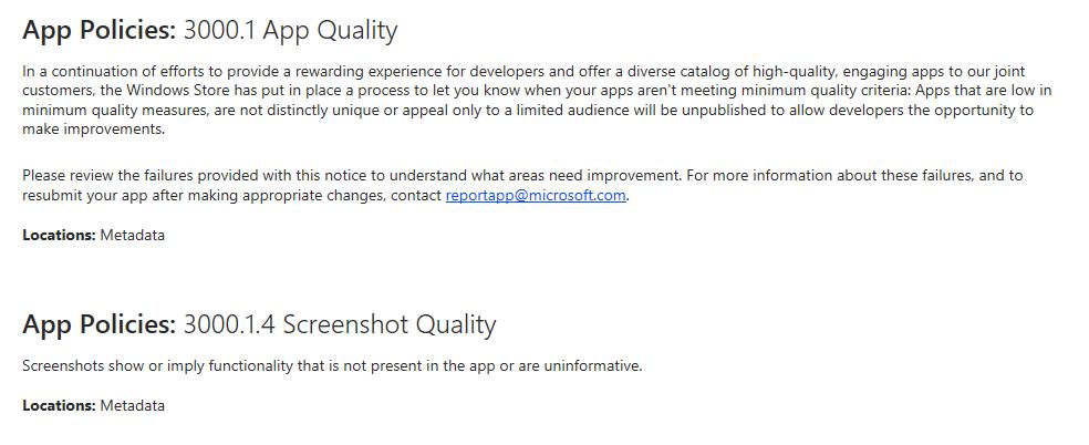 Microsofts Statement zu dem Rausschmiss meiner App.