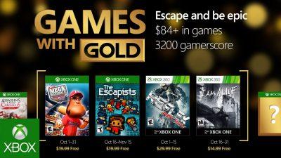 Games with Gold im Oktober – The Escapists, I am Alive und mehr