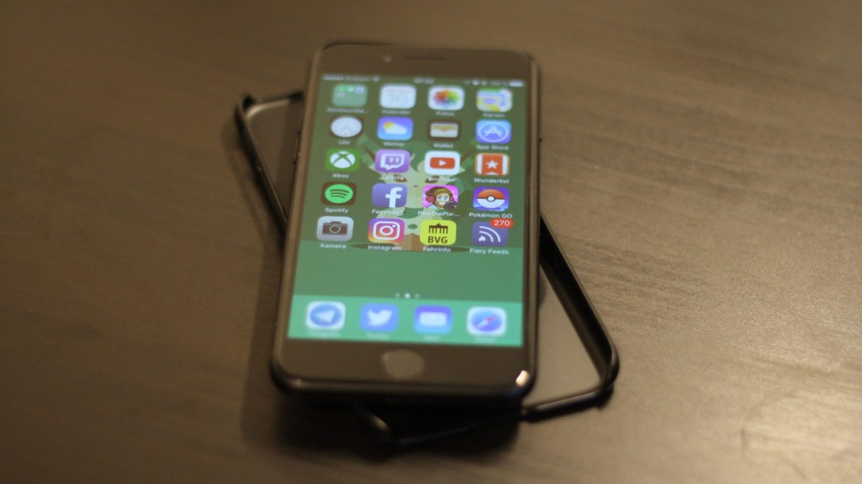 iPhone 7 mit Spigen Hülle