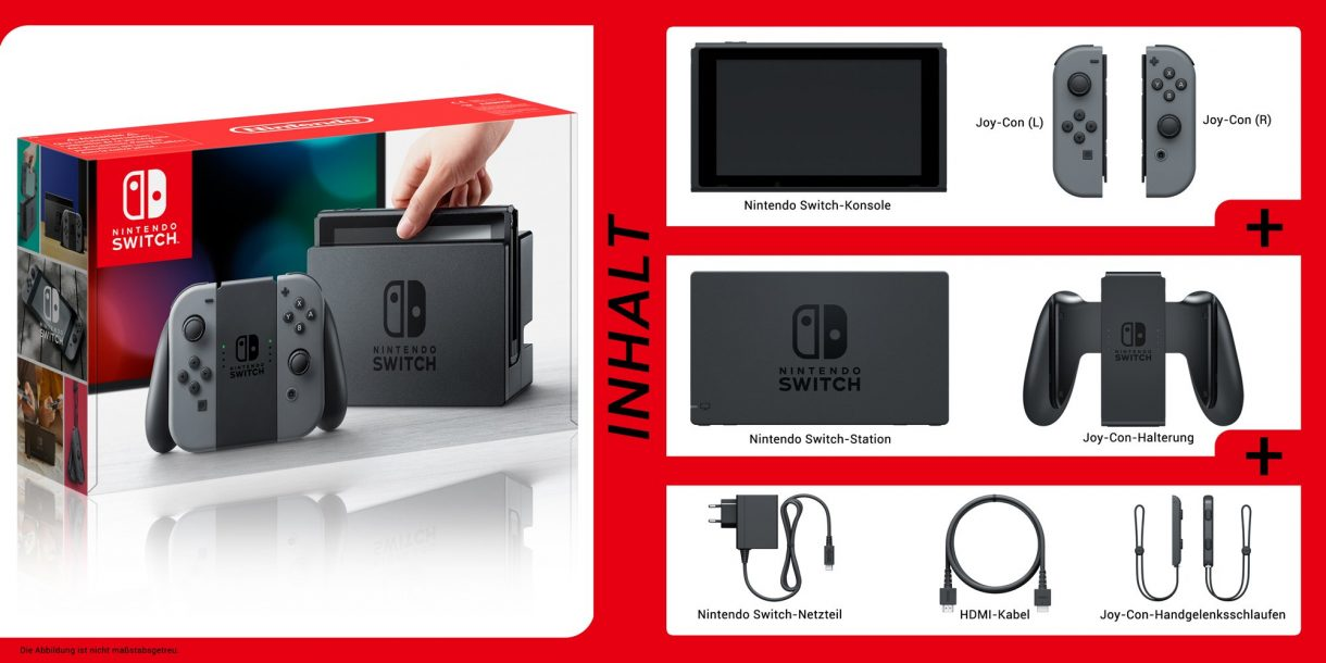 Nintendo Switch Lieferumfang