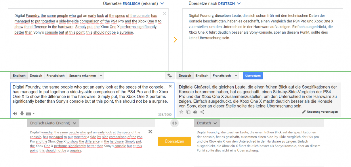 DeepL vs Google Translate vs Bing Translate 2
