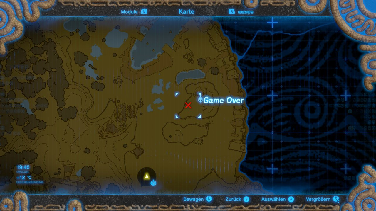 Breath of the Wild - Game over