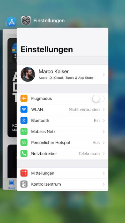 iOS 11 - Task-Switcher