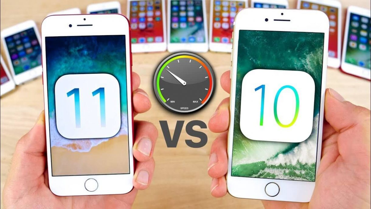 iPhone Speedtest iOS 11 vs iOS 10