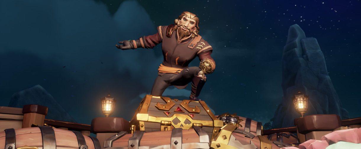 Sea of Thives - Pirat auf Schatztruhe