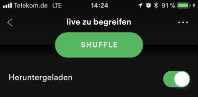 Spotify - Musik auf iPhone herunterladen