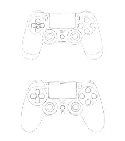 PS5 Controller Patentzeichnung