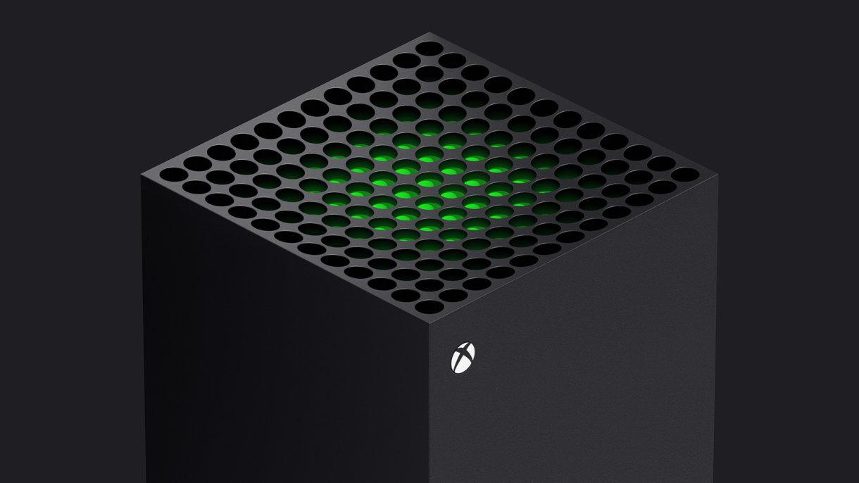 Ein Rendering der Xbox Series X von oben