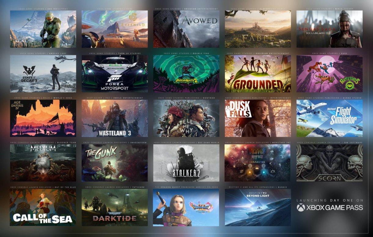 24 Spiele, welche für die Xbox Series X bereits angekündigt wurden und direkt im Game Pass erscheinen